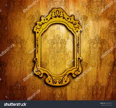 Old Fashioned Picture Frames Vintage Interior Design Old Golden Mirror Stock Photo 103476761