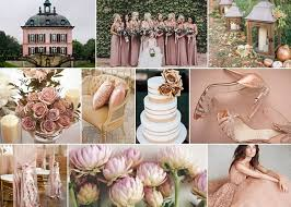 pink white gold wedding white book