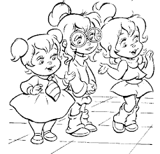 printable alvin chipmunks coloring pages coloring