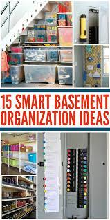 enchanting storage ideas for basement with basement organization