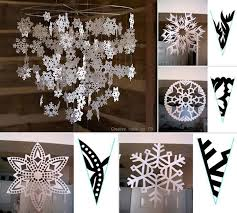 wonderful diy pretty paper snowflake mobile from template paper