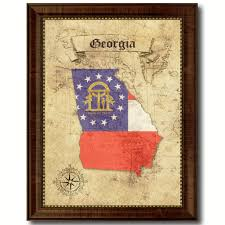 georgia state vintage map art office wall home decor rustic gift