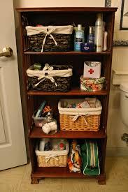 brown cabinet bathroom hallway wooden storage unit cupboard photo