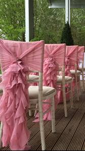 Ruffled Chair Covers 147 Best Wedding Chairback Decorations Images On Pinterest