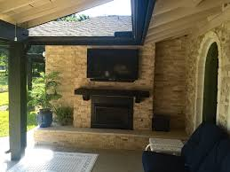 Outdoor Fireplace Houston by Backyard Retreats Patio Builder Houston Outdoor Structures