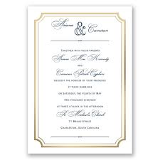 Wedpics Invite Cards Gold Frame All In One Invitation Ann U0027s Bridal Bargains