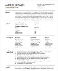 Marketing Resume Sample Pdf by Account Executive Resume Marketing Account Executive Resume