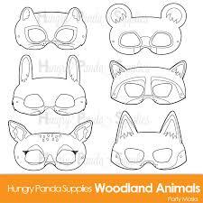 printable lizard mask template woodland forest animals coloring masks woodland animal mask
