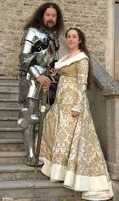 Medieval Wedding Dresses Uk Joust Married Bride Weds Her Knight In Shining Armour At Medieval