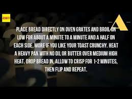 Buttered Bread In Toaster How Do You Toast Bread Without A Toaster Youtube