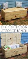 Diy Wooden Storage Bench by Best 25 Deck Box Ideas On Pinterest Blanket Box Pallet Chest
