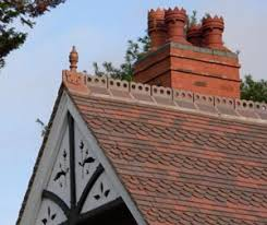 reroof of house with dreadnought clay tiles