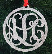 wedding ornament engagement ornament monogrammed ornament