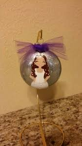 flower girl christmas ornament custom painted 3d christmas ornament with personalized