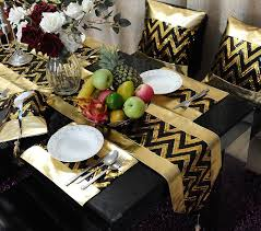 Gold Table Decorations Black And Gold Table Table Designs