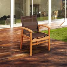 Teak Patio Flooring by Amazonia Devlin 4 Person Sling Patio Dining Set With Teak Table
