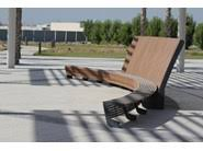 Landscape Timber Bench Wooden Bench With Back Landscape Bench With Back By Mmcité1