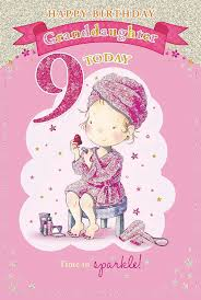 for a special granddaughter on your 11th birthday card 7329 cg