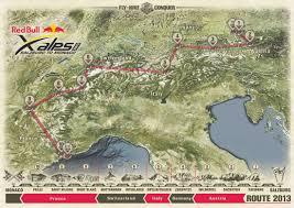 Alps On A Map Adventure Magazin De Red Bull X Alps 2013