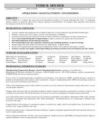 Engineering Resume Example by Resume For Manufacturing Engineer 2840 Plgsa Org