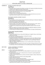 trading support resume samples velvet jobs