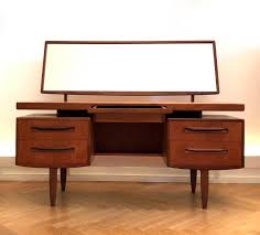 mid century fresco dressing table or ladies desk with mirror by