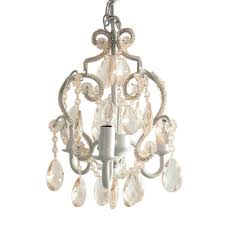 Nursery Chandelier Tadpoles 3 Light White Diamond Mini Chandelier Cchapl010 The
