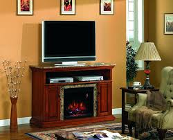corner entertainment center electric fireplace rustic oak stand