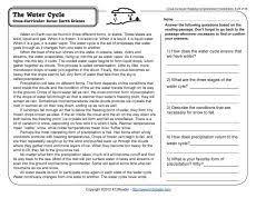 ecosystems reading comprehension worksheets comprehension