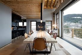 nice modern design luxury ski chalet interiors that has cream