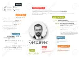 Colorful Resume Templates Free Vector Original Minimalist Cv Resume Template Creative Version