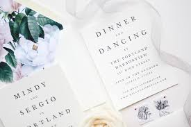 our wedding invitation suite with minted a mix of min