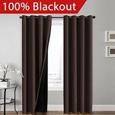 Brown Blackout Curtains Flamingop Blackout Brown Curtains Faux Silk Satin
