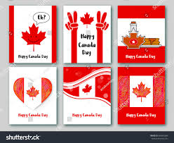 set greeting cards national colors canada stock vector 654883384