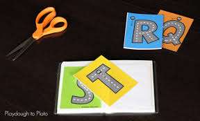 printable alphabet tracing letters free free letter tracing roads playdough to plato
