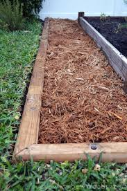 wood garden edging diy home outdoor decoration