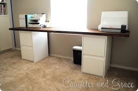 Diy File Cabinet Desk Impressive Innovative Diy File Cabinet Desk Filing Inside With