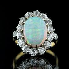 vintage opal engagement rings antique opal and diamond ring