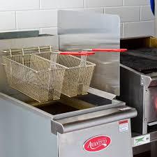 stainless steel universal splash guard for deep fryers
