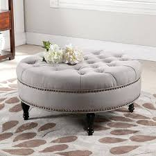 Grey Tufted Ottoman Tufted Ottoman Etechconsulting Co