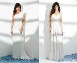 dessy wedding dresses assymetrical one shoulder wedding dress from dessy grecian