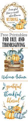 free thanksgiving and fall printables clean and scentsible