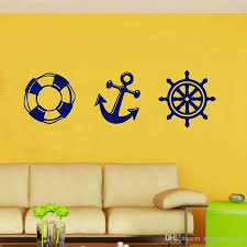 fan foam 3d wall sign life buoy anchor rudder wall stickers home decor for boys girls room