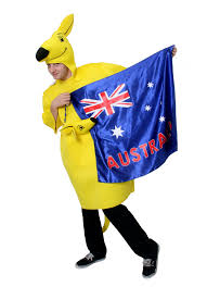 Austrslia Flag Kangaroo Costume With Australian Flag Cape Australia Day Rugby