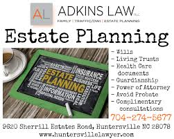 North Carolina Durable Power Of Attorney by Huntersville Lawyer Adkins Law Divorce Lawyers Dwi Attorney