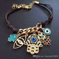 charm bracelet with evil eye images Fashion evil eye hamsa leather cord bracelets kabbalah lucky eye jpg