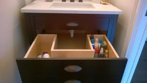 Powder Room Size The Powder Room Vanity Drawer Open A Plumbers Nightmare But