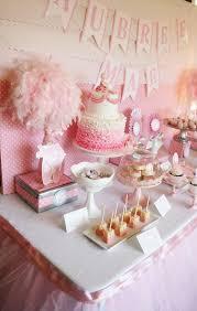 ballerina baby shower dessert table by