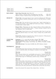 Resume Templates For Openoffice Free Download Free Open Office Resume Templates Resume Template And