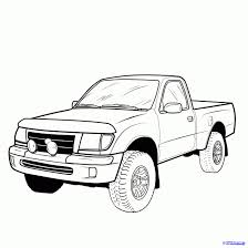 drawings of cars and trucks how to draw a pickup truck pickup